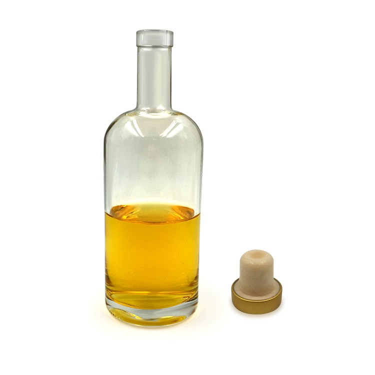 Flint Empty Brandy Bottle 700ml With Cork Stopper