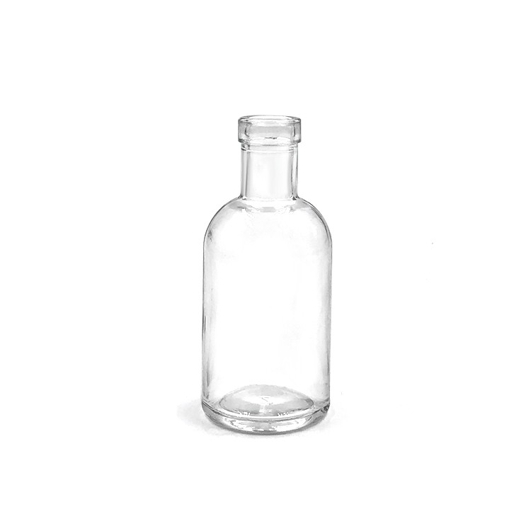 Small 50ml miniature rum glass bottles whisky vodka gin glass bottle with screw cap