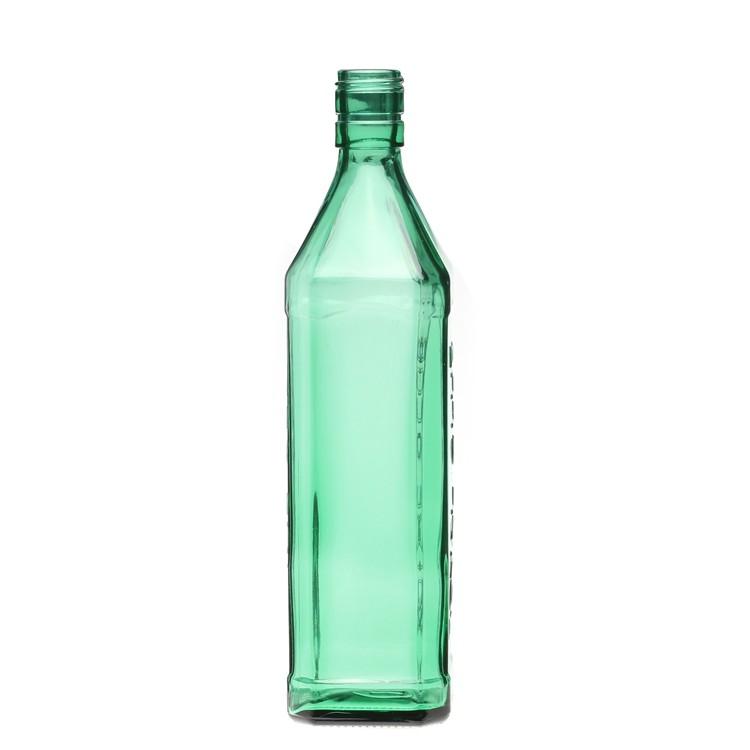 Hot Wholesale Green Color Glass Wine Bottle Brandy Whisky