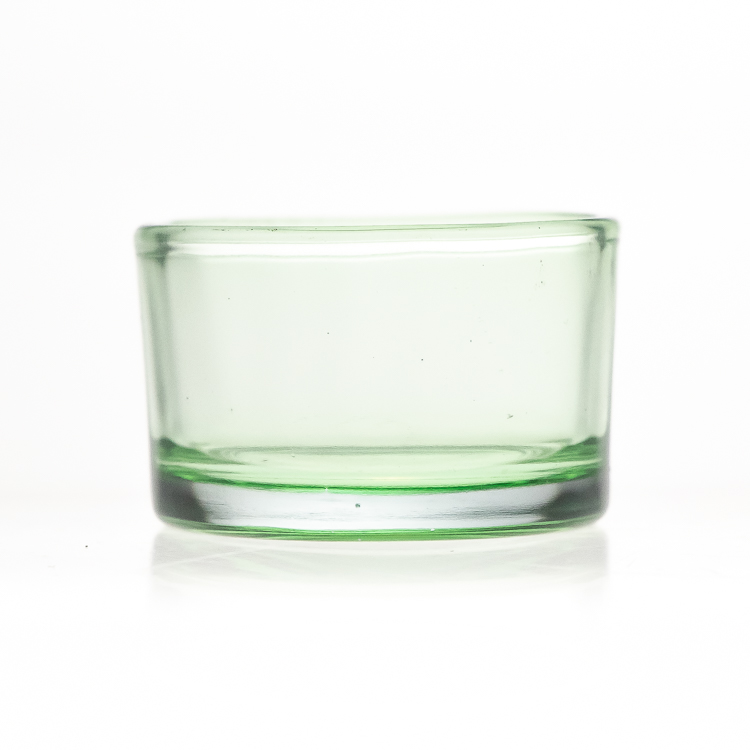 Factory Custom 30ml Round Custom Design Candle Jars 1oz Cylinder Round Small Glass Candle Holder
