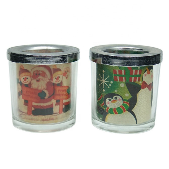 Santa Christmas cast iron candle holders for Christmas decoration & home decor tea light candle holders