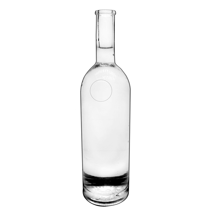 glass crystal white glass wine bottle vodka whisky glass wine bottle screen printing customized logo 750ml