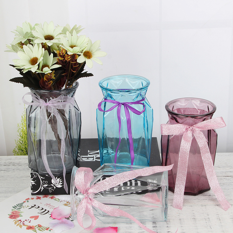 Colored glass vase /flower vase