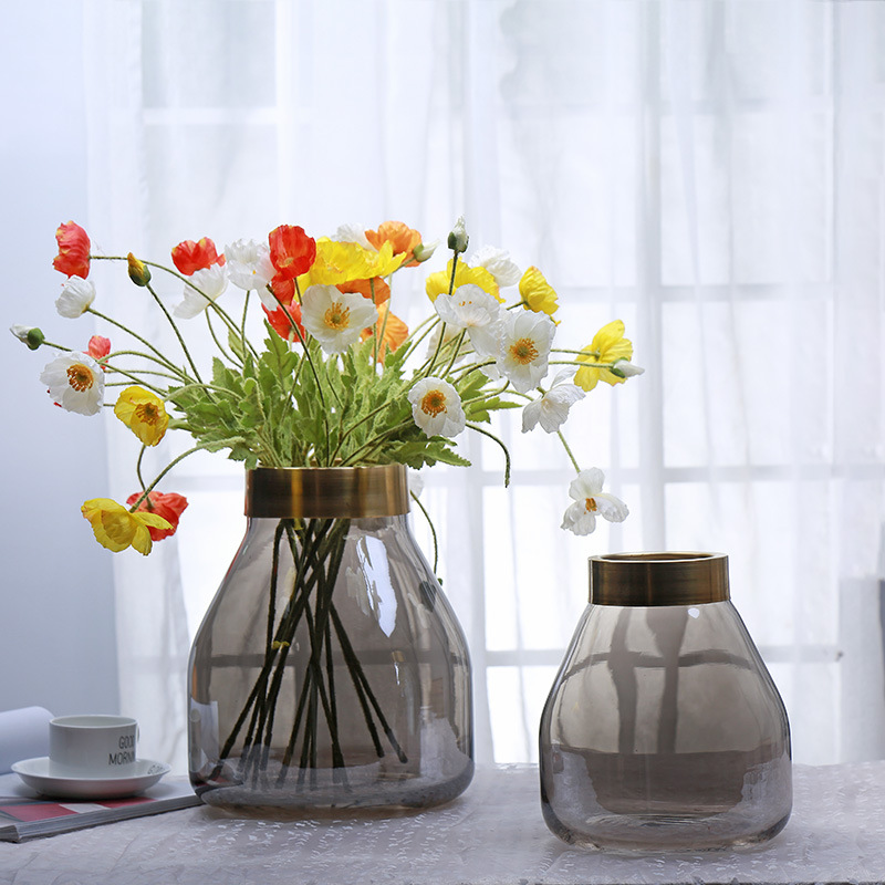 Modern fashion solid color vase glass for home hotel decor