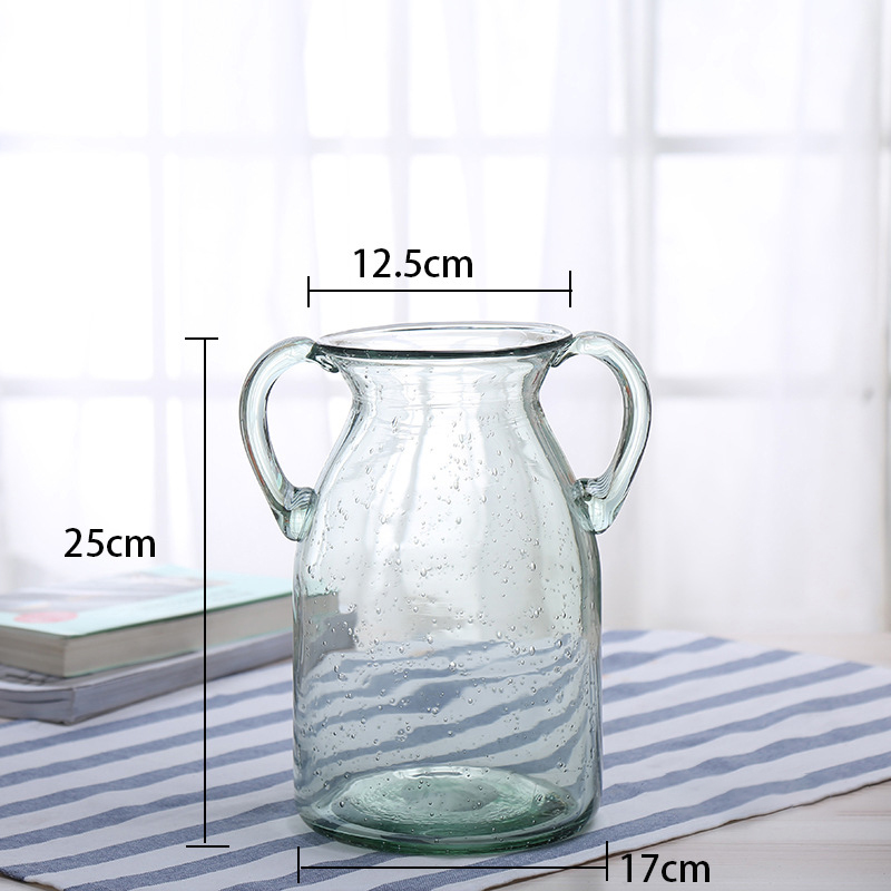 Stocked hand brown fashion glass vase