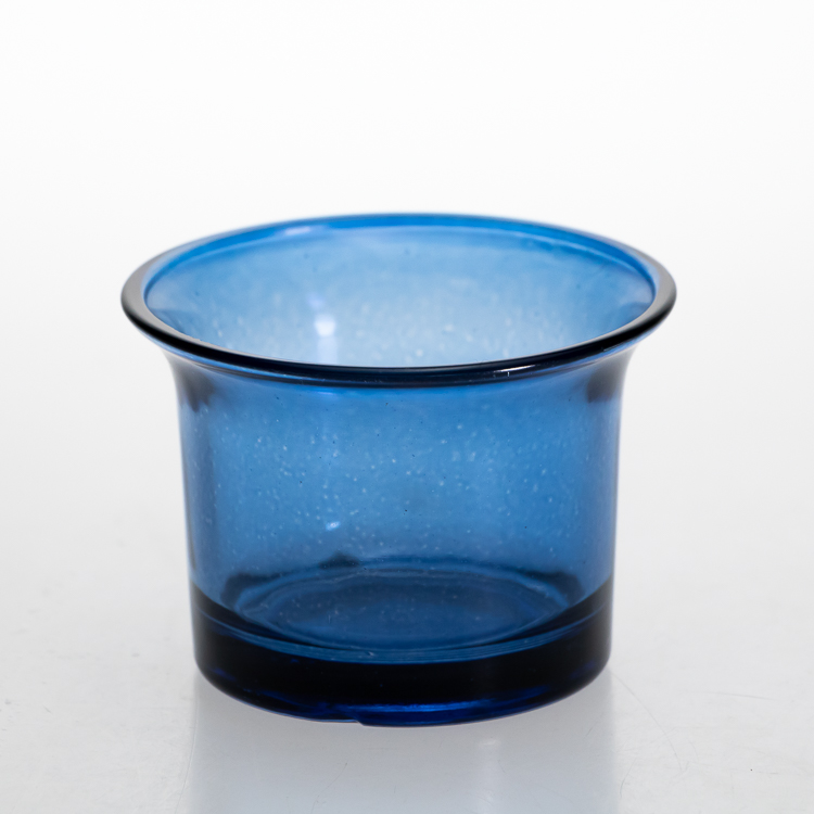 Wholeasle Round 50 ml Glass Blue Candle Jars Cup Small Tea Light candle holder