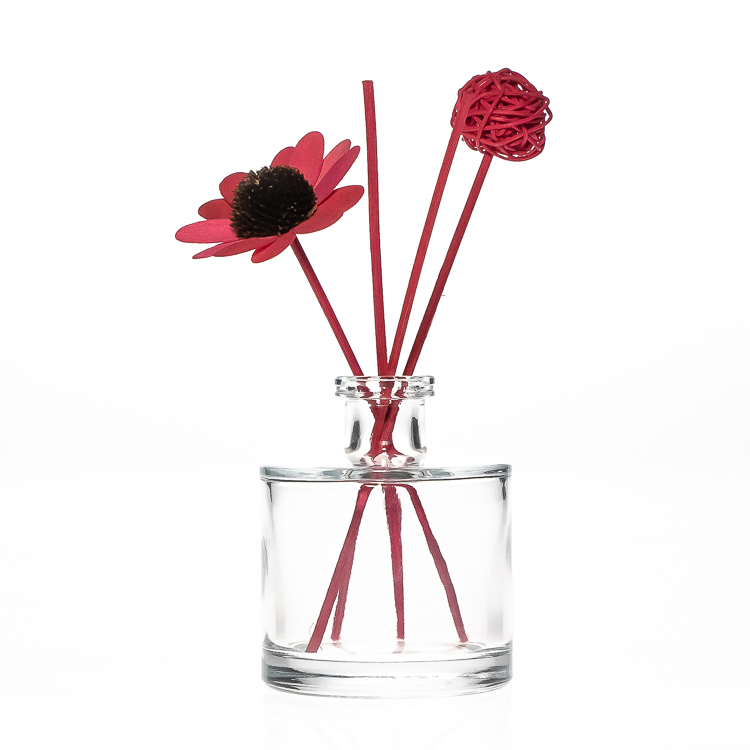 Wholesale 50ml 100ml Round Shape Attar Reed Diffuser Glass Bottle with Glass Cork