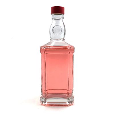Customized 500ml square vodka spirit glass bottle