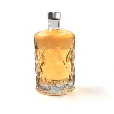 Luxury exotic liquor bottles 430ml fancy whisky bottle glass