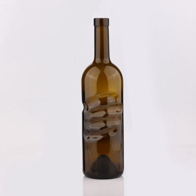 Best Price High Quality Transparent Color Cork Cap Glass Wine Bottle