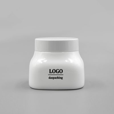 300ml opal white ceramic cosmetic jars cream containers for body scrub with white bakelite lids
