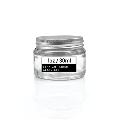 Normal size round 30ml clear glass salve jars for cosmetic use