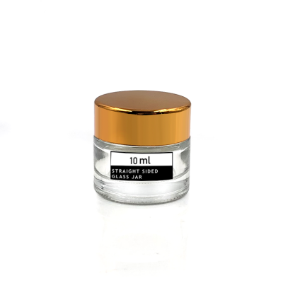 Sample size 10g transparent glass cosmetic cream jar with screw lid