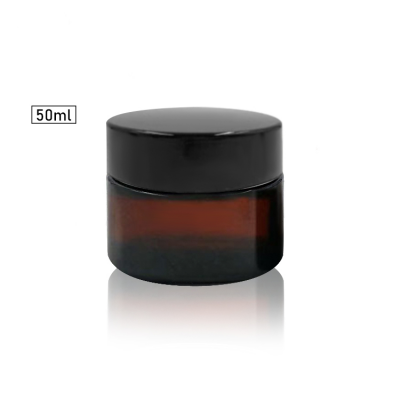UV protected straight side glass cosmetic cream jar 50ml