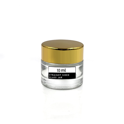 Factory price 10ml glass lip balm empty jar with with inner seal