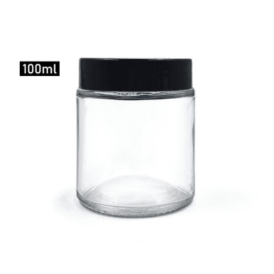 Flint round 100ml glass body cream jar with pp lid