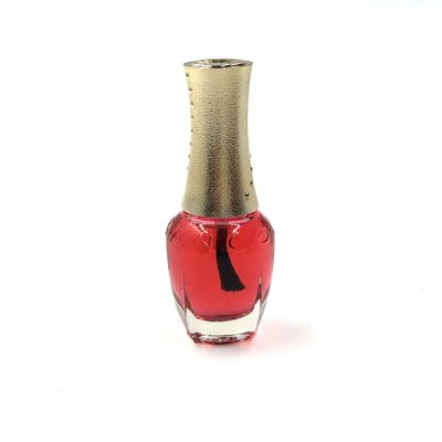 14ml glass nail polish bottle shiny metallic gold nail polish cap cosmetic nail polish packaging