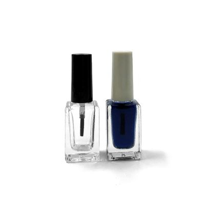 9ml Rectangle Empty Clear Nail Polish Bottle For Cosmetics