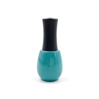 Empty 15ml round vintage mineral green glass uv nail polish bottles with matte cap