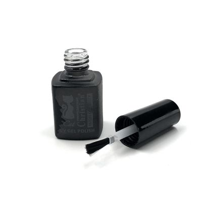 UV protected empty painted 8ml gel nail polish bottle with black lid