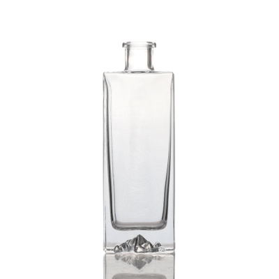 250ml Iceberg Square Shape glass wine bottle