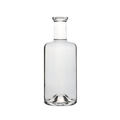 375ml High quality flint clear red glass liquor wine bottles for sale