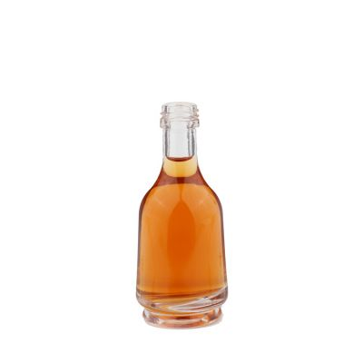 factory price cheap empty mini glass wine bottle with cork