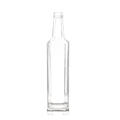 Wholesale empty 750ml tequila gin vodka whisky square liquor wine bottle glass with screw cap