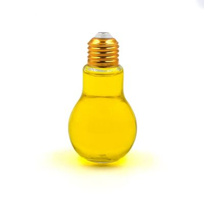 Screw cap 100ml light bulb shaped glass bottle for beverage