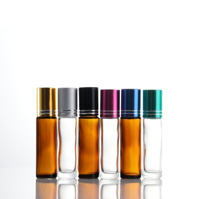 Wholesale Colored Mini Small Empty Glass Essential Oil Roll On Bottles