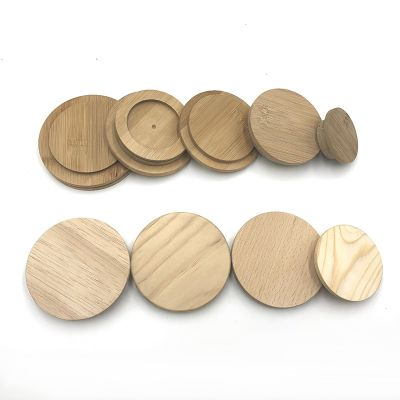 Custom-made Bamboo/wooden lids for glass jars or container useful
