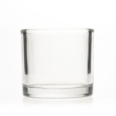 Factory Cheap Price 260ml Empty Glass Candle Cup 8oz Custom Clear Custom big Candle Glass Jar