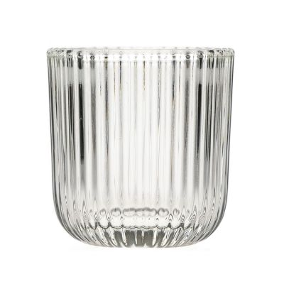 Factory Price Large Capacity 310ml 10oz Round Clear Glass Candle Jat Dome for Wedding