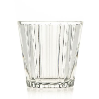 Factory Wholesale Clear Empty 170ml Crystal Round Glass Candle Holder / Glass Cup / Candle Jar for Holiday