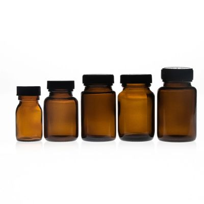 300 ml 500cc 60ml 500ml Wide Mouth amber pharmaceutical glass bottles for Tablet with wide mouth