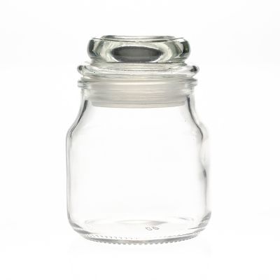 120ml 4oz Empty Round Glass Candle jar / Empty Candle Holder with Glass lid