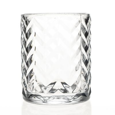 Home Decorative Use Glass Material 700ml Large Big Glass Candle Holder Crystal Round Glass Candle Jar