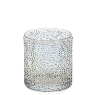 Hot Selling 210 ml Glass Candle Holder Engraving Crystal 7oz Glass Cup for Candle