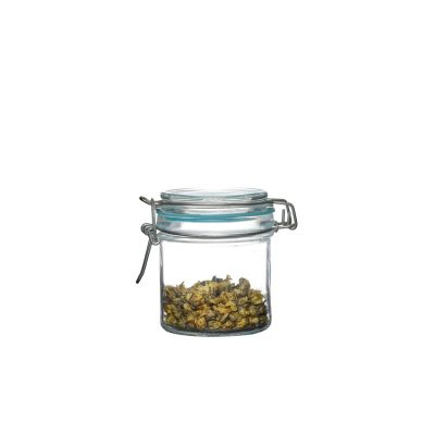 300ml Jar Glass With Clip Lid Packing Glass Storage Jar