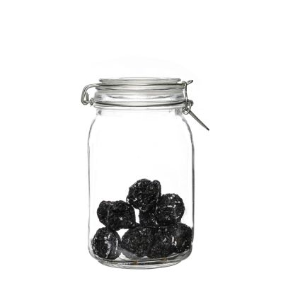 China suppliers top quality 1500ml glass food container jar storage