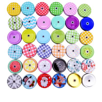 hot sale 50mm 70mm Canning Lids glass jar Tinplate Caps with Hole