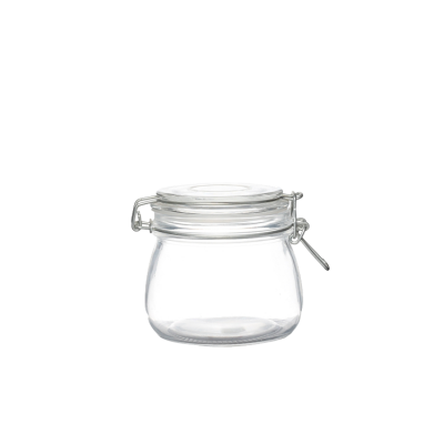 Premium hermetic 500ml airtight kitchen containers food storage glass jars for sale