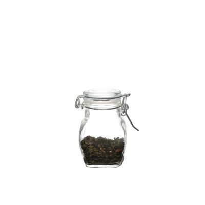 Kitchen use Mini 100ml Glass Storage Jar with clip top