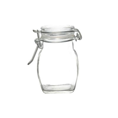 premium quality food goods 100ml glass jar with flip clamp lid