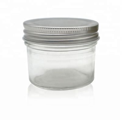 Custom 100ml Clear Scented Candle glass jar with metal lid