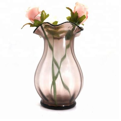 Decorative colourful fashion glass vase for flowers