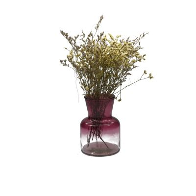 650ml Handmade flower glass vase spray color with vintage vases style