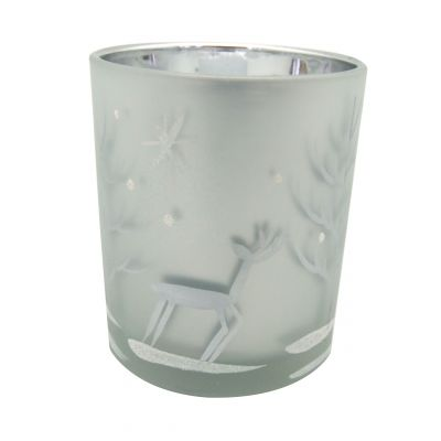 5.5oz votive and tea light candles glass holders for Christmas decoration