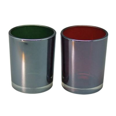 2oz colored candle glass jars for glass candle holders votive lustre iridescent