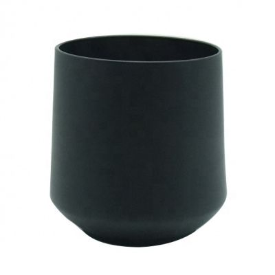 12oz 13oz custom matte black glass candle jars 430ml glass candle holders vessels glasswares tablewares decoration wax
